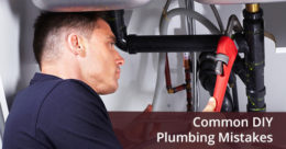 Mature plumber trying to fix the plumbing mistake