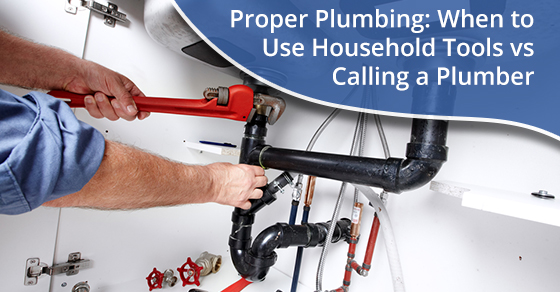A plumber doing proper plumbing works using household tools