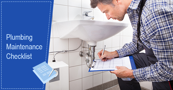 Plumbing Maintenance Checklist