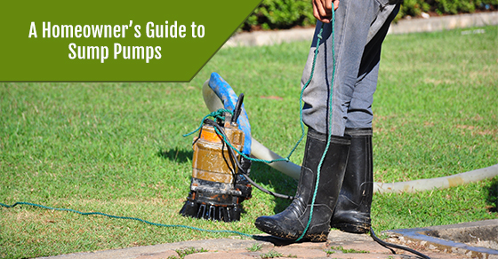 The sump pump in a house garden