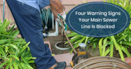 Warning signs for sewer repair!