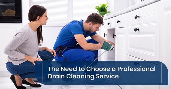 Choose a professional drain cleaning service
